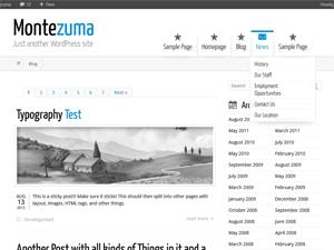 wordpress montezuma theme